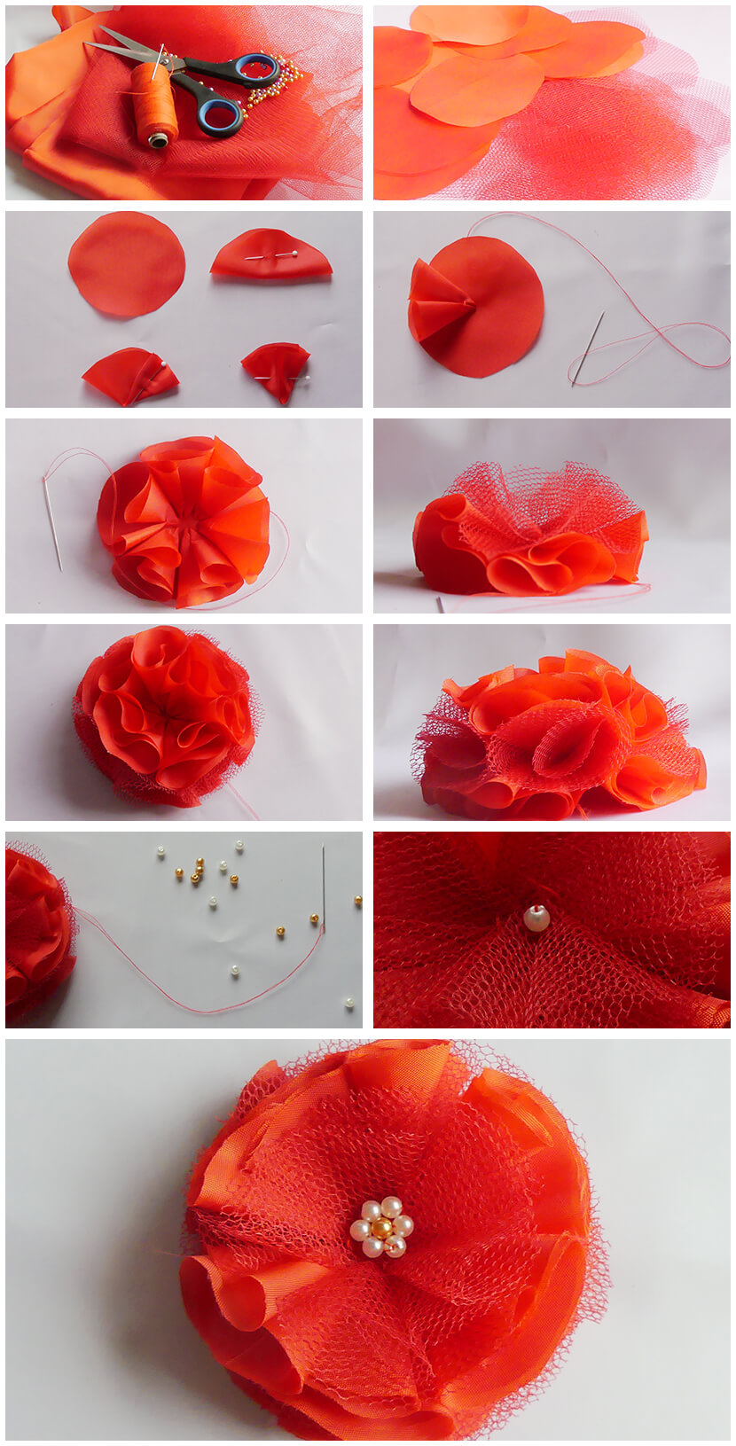 Jak vyrobit květinovou brož - Little BIG ART - Vyrobte si sami