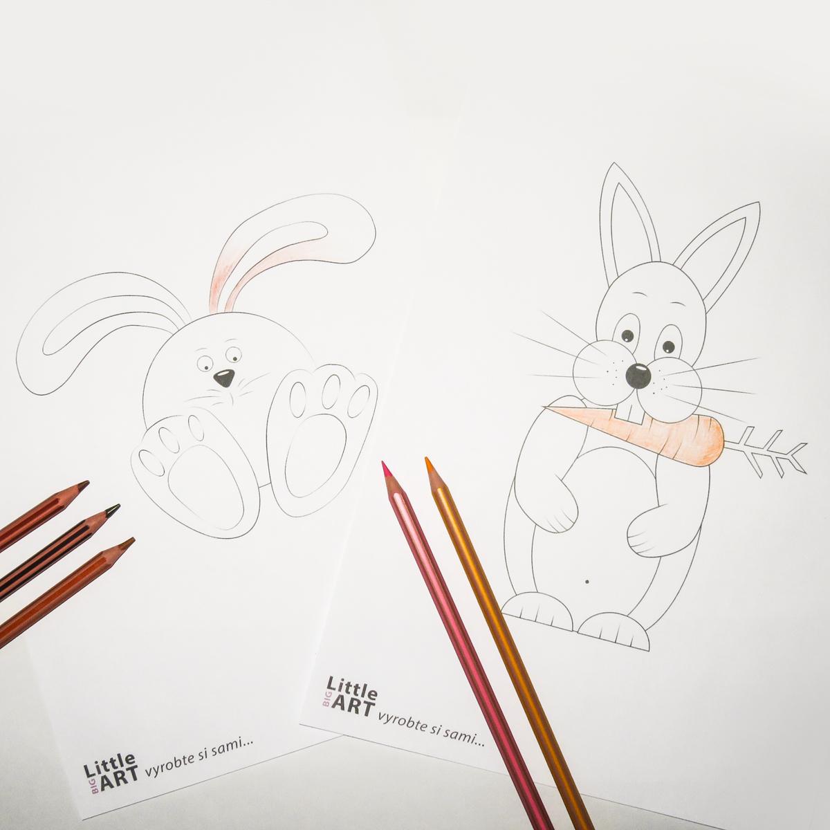 Omalovánky - Velikonoční zajíc - Little BIG ART - Vyrobte si sami