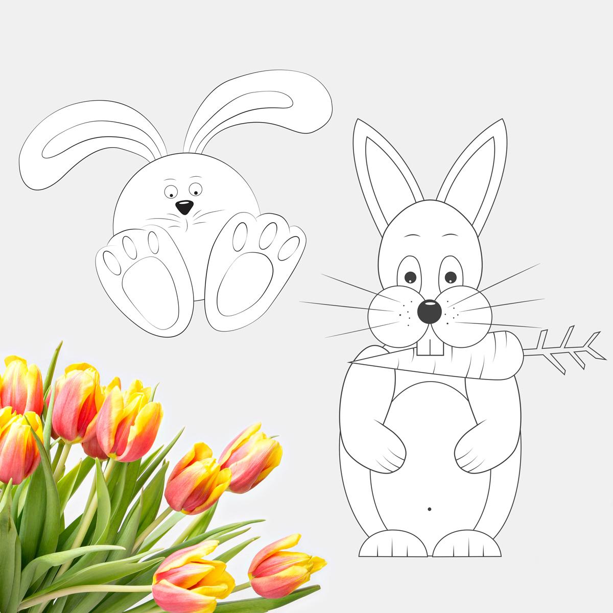 Velikonoční Zajíc - Omalovánky - Little BIG Art