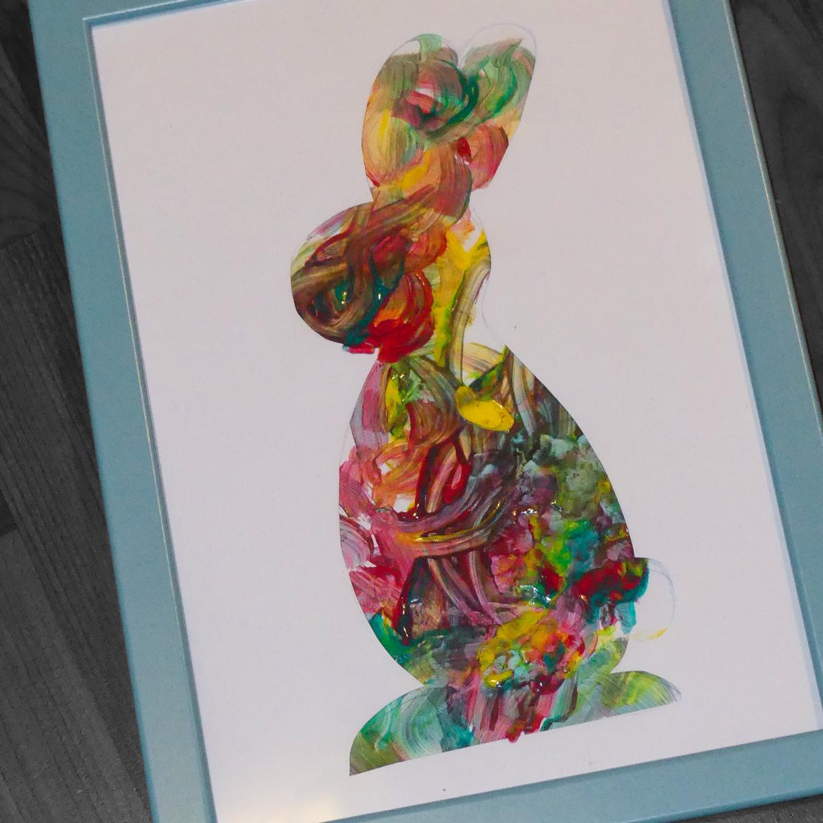 Malovaný zajíc v rámečku - Little BIG Art