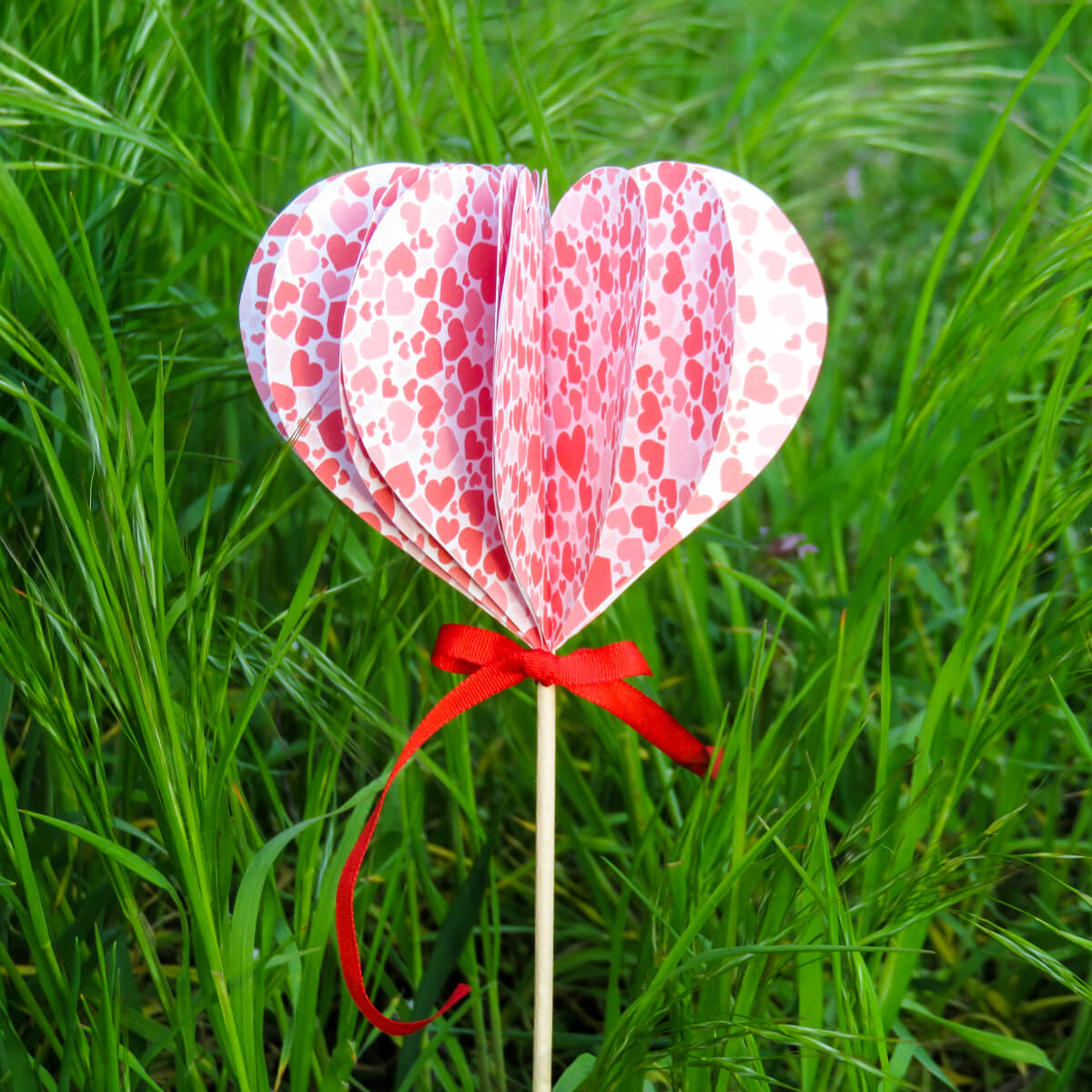 Srdcový zápich - Little BIG ART - Vyrobte si sami