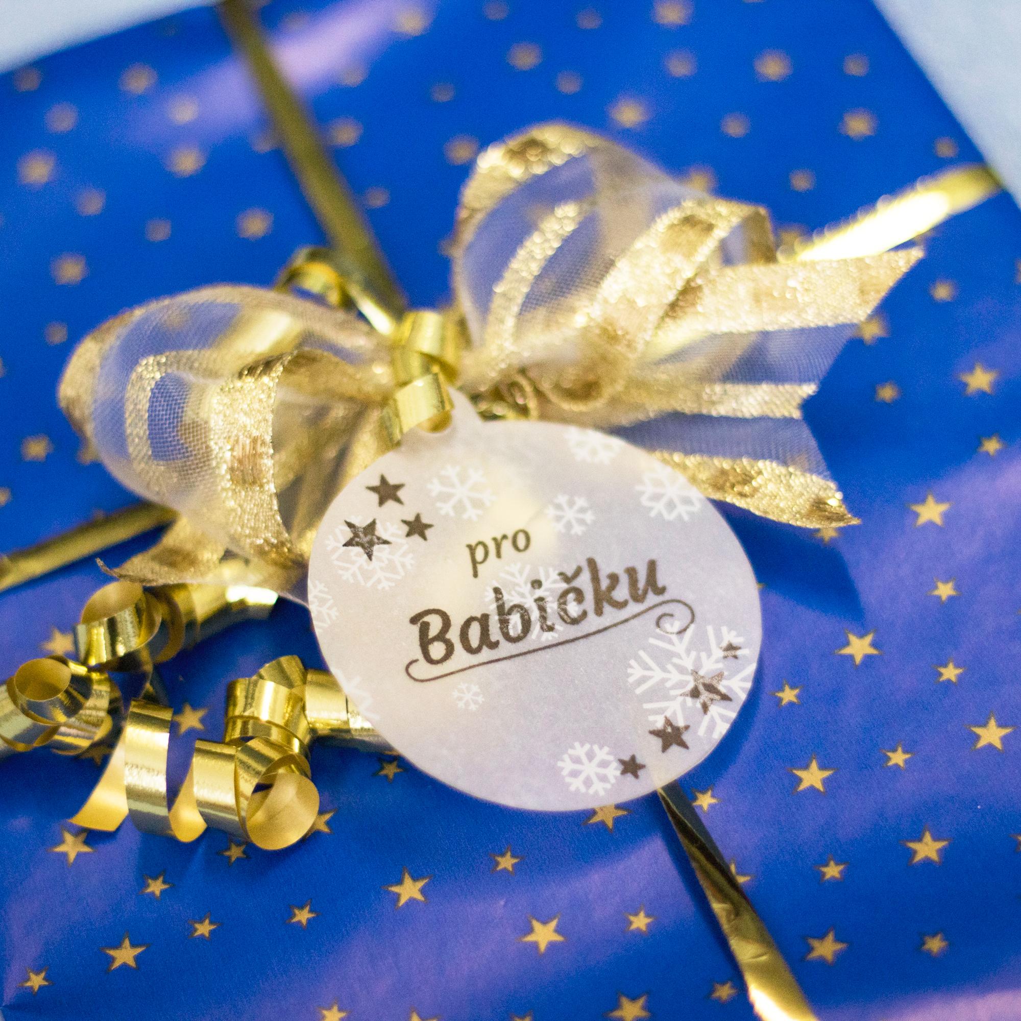 Vánoční jmenovky ve tvaru baňky - Vyrobte si sami