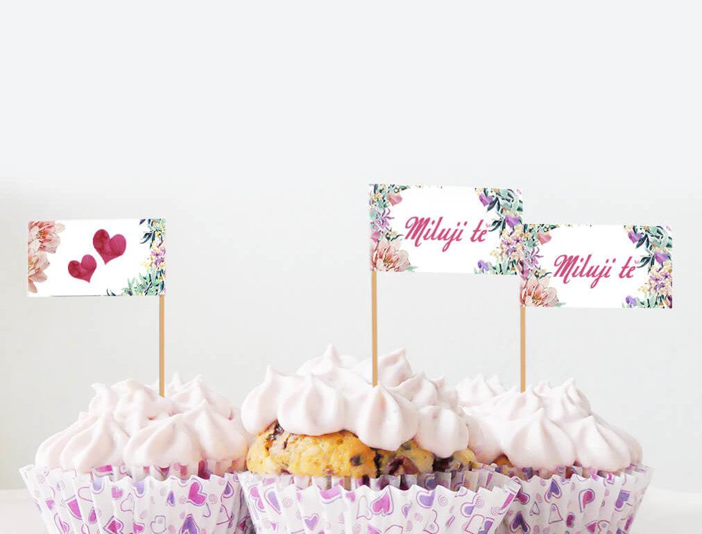Valentýn - Miluji tě - Vlaječky - LBA