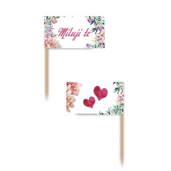 Vlaječky - Miluji te - Vyrobte si sami