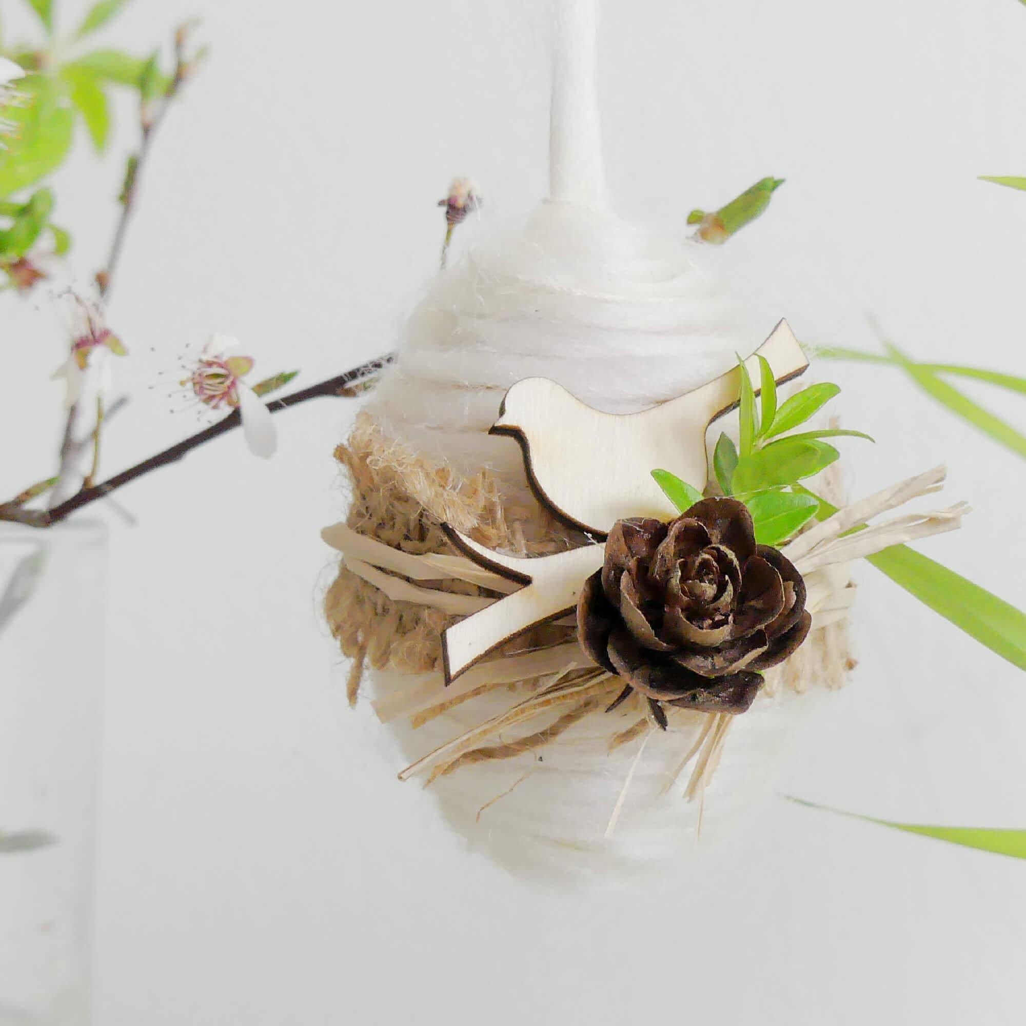 Kraslice v přírodním stylu - Vyrobte si sami