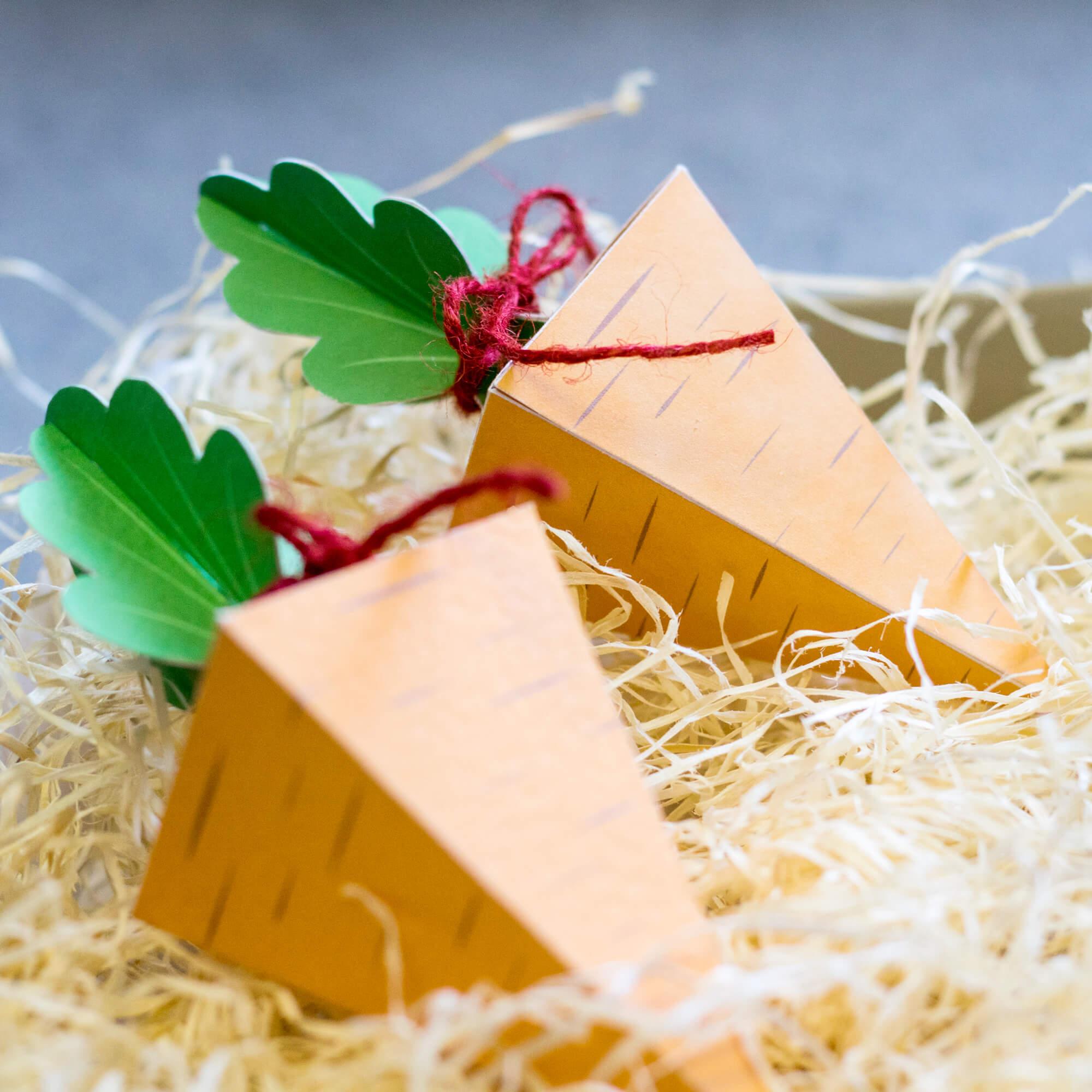 Velikonoční mrkvová krabička - Vyrobte si sami