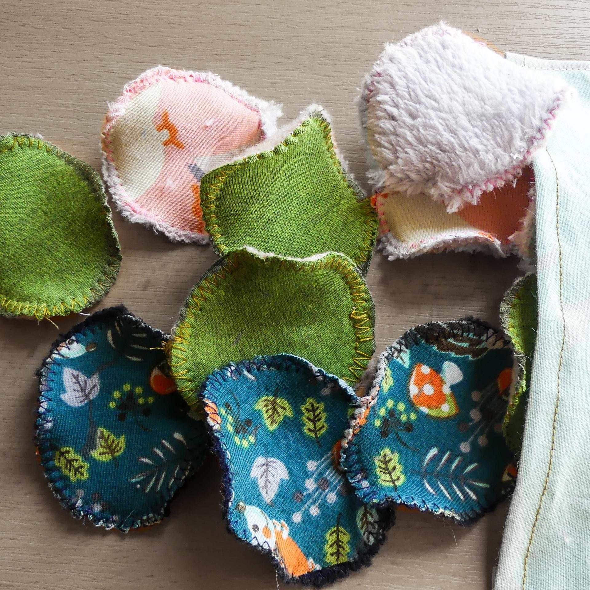 Látkové odličovací tamponky- Vyrobte si sami
