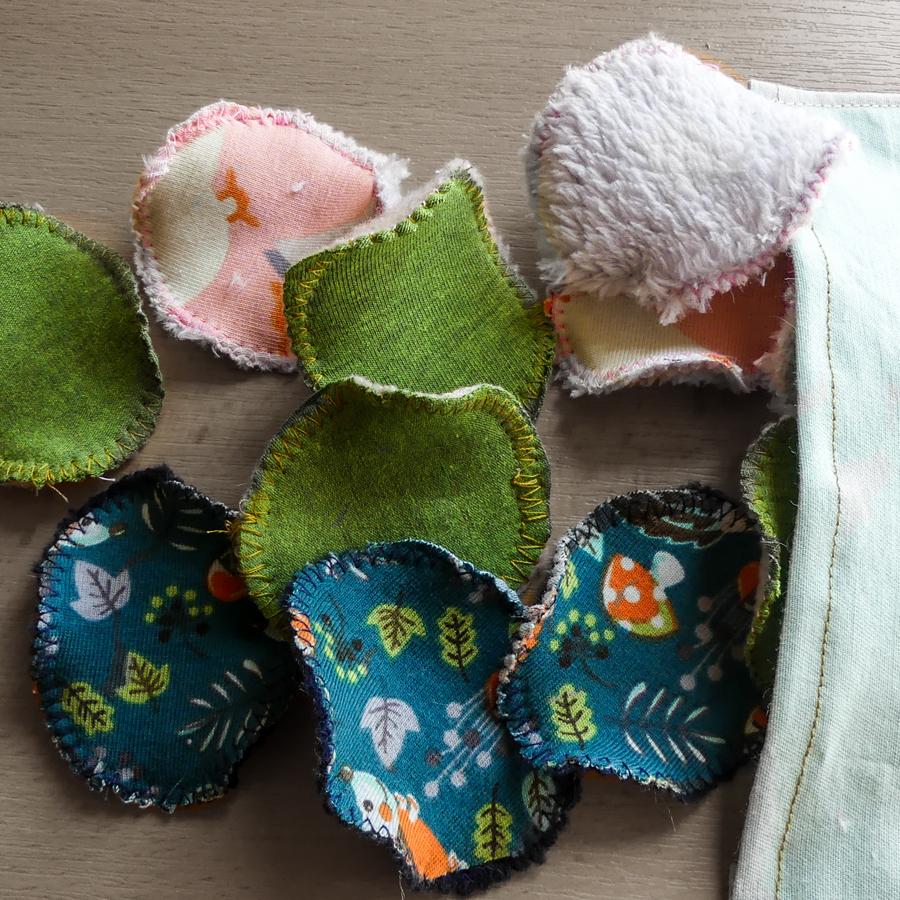 Látkové odličovací tampony - Vyrobte si sami